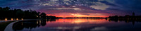 Wascana Lake Sunrise Panorama